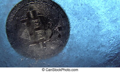 Silver Bitcoin, bit coin online digital currency frozen in...