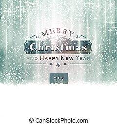 silver, blå, god jul, typografi