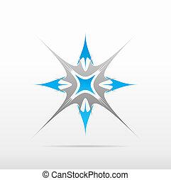 silver blue abstract vector logo design