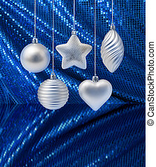 Silver blue Christmas decoration