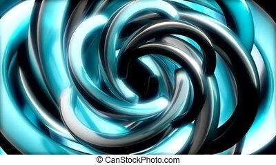 Silver blue swirls