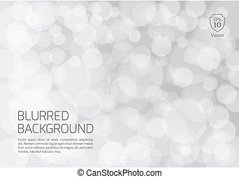 Silver blurred background with twinkly lights