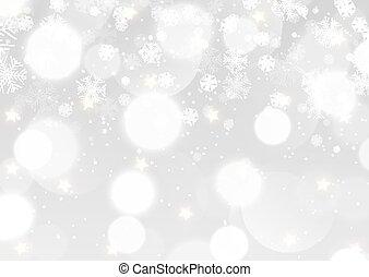 silver bokeh lights Christmas background 1611