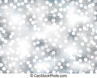 Silver Bokeh - Vector illustration representing glittering ...