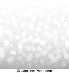 Silver Bokeh Wallpaper With Gradient Mesh, Vector...