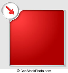 silver box for any text with red arrow