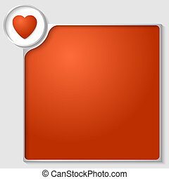 silver box for any text with red heart