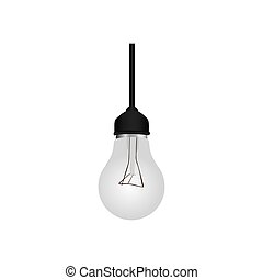 silver bulb hanging icon image