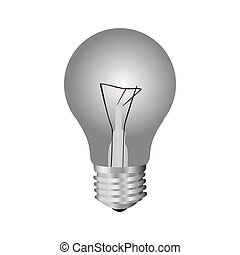 silver bulb icon image