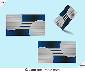 Silver business card layout