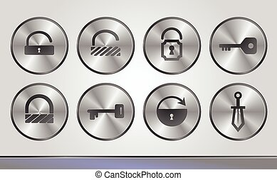 Silver business icons