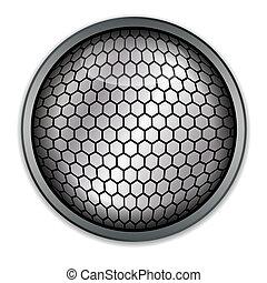 Silver button, vector