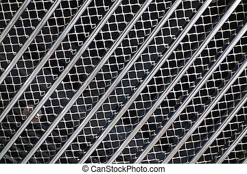 Silver Car Grille - Silver coloured radiator grille on front...