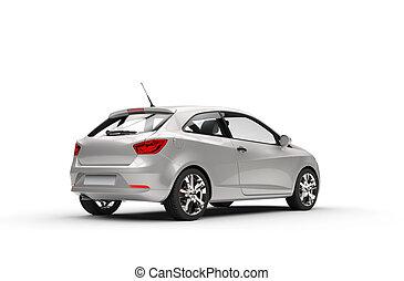 Silver Car Rear View