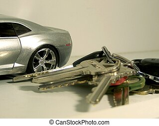 Silver Car with Keys Auto Loan Sale