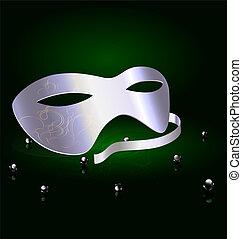 silver carnival half-mask
