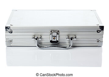 Silver case - Lock protected case from aluminum, fron view...