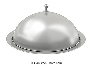 Silver catering tray - Luxurious catering tray covered with...