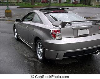 Silver Celica rear - a cool little sports car - toyota...