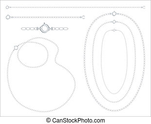 Silver Chains, Necklaces, Bracelet - Silver chains,...