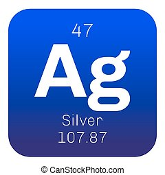 Periodic table element silver icon periodic table element silver chemical element urtaz Gallery