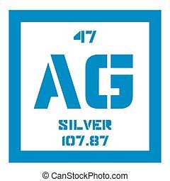 Periodic table element silver icon periodic table element vector silver chemical element urtaz Images