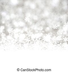 Silver christmas background.