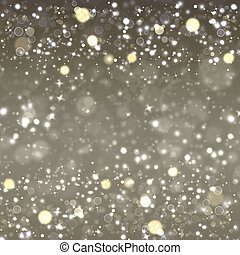 silver Christmas background, festive fantasy with stars