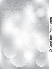 Silver Christmas Backround - Abstract Christmas Backround -...