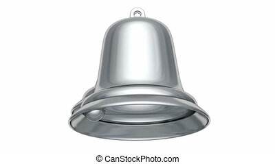 Silver Christmas bells 3D animation