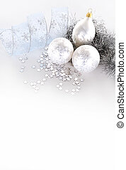 silver Christmas decorations - beautiful sliver seasonal...