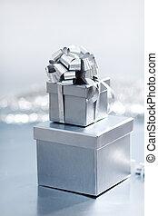 silver christmas gift