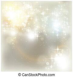 Silver Christmas lights - Shiny stars and light effects like...