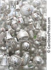 Silver Christmas Tree Decoration