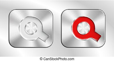 Silver chrome buttons