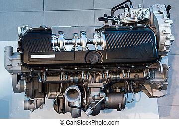 Silver Chrome Trucks Engine