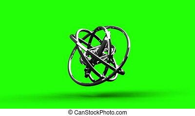 Silver Circle Abstract - Loop Able Silver Circle Abstract On...