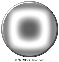 Silver Circular Button - 3d silver circular button isolated ...