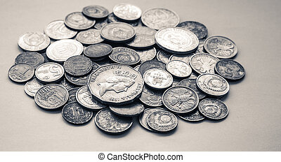 silver coins of different countries and times