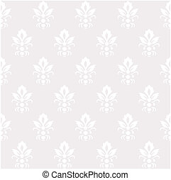 silver colored vintage seamless pattern