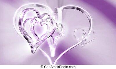 Silver concentric hearts