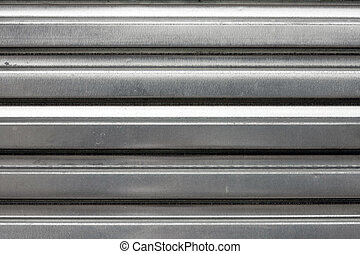 Silver Corrugated Metal Texture