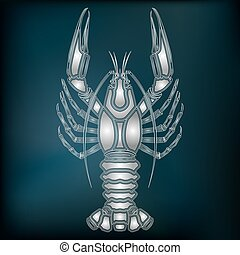 Silver crawfish – zodiac Cancer sign