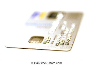 credit card - silver credit card at angle