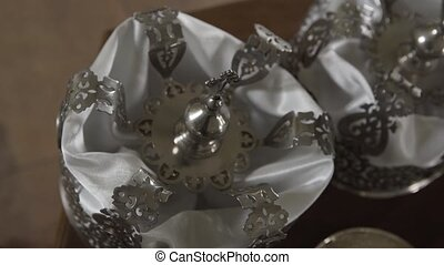 Silver crowns for church weddings. - Silver crowns for ...