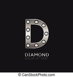Silver D letter