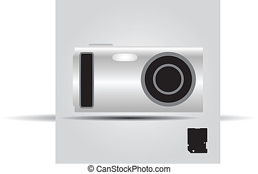 silver digital compact camera eps10