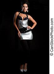 Silver Dress Woman