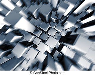 Silver dynamic motion block background