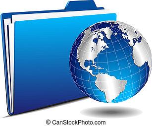 Earth Globe with Folder